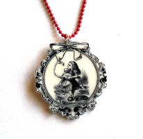 Alice Cameo Necklace by FatallyFeminine