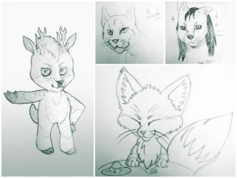 Random sketches by JoshikoseiSnak