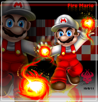 Giftart: Fire Mario by Bowser2Queen