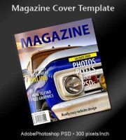 Magazine Cover PSD Template by spentoggle