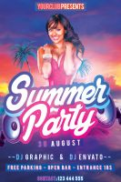 Summer Party Flyer Free PSD Template by KlarensM