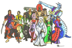 Legend of The Five Rings Cast by Jeff3333