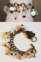 neutral floral charm bracelet by Crimefish