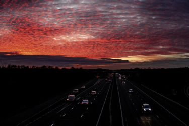 Fire in the sky over the M3 by bullispace