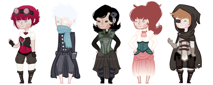 Steampunk Adoptables Auction II Closed II by StarryEvening