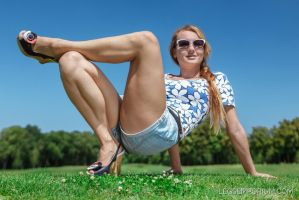 Folded Single Leg Squeeze and Crossover - Alisa by LegsEmporium