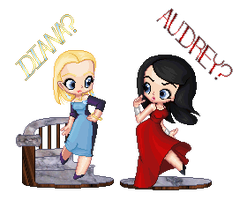 Audrey and Diana by MobMotherScitah