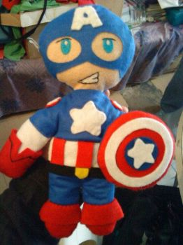 Captain America Plushie by cubosabio