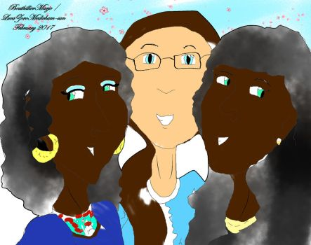 Selfportrait with my (African) cousins by LucaZoroMedicham-san