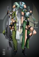 Sword Art Online Sinon X2 by KanonFodder