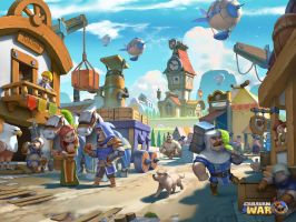 Caravan war: Town street by cloudintrousers