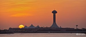 Sunset over Marina Mall by Gerjen