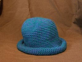 blue heathered hat by crochetty-spinner