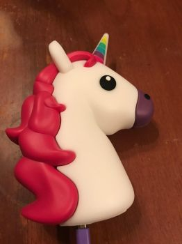 Unicorn emoji phone charger  by Lord-Lily