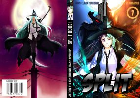 split manga book cover by HannaPhilip