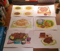Food Illustrations by Anrachman