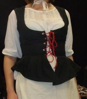 Corset with peplum by J-Sillabub