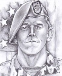 Traditional Portrait of a Fallen Hero Chris Celiz! by Halasaar01