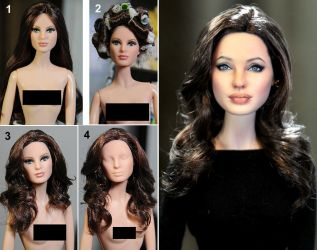 Angelina Doll Repaint Transformation by noeling