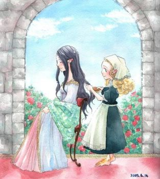 Arwen and Elanor by solalis1226