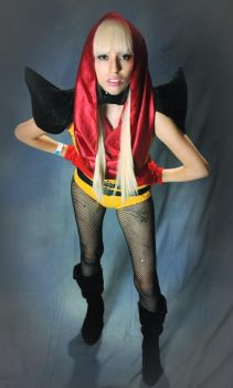 Me as Lady Gaga - Red and Yellow by ssGoshin4