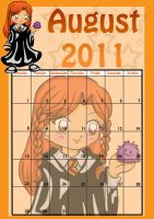 HP Chibi Calendar - August by SusiKISS