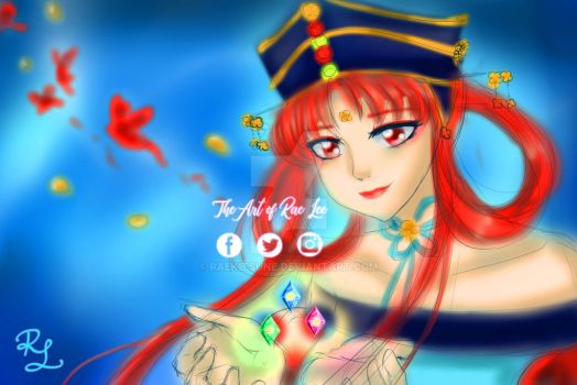 SPEED PAINT - Princess Kakyuu - Scribble