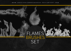 Flames Brushes | Photoshop by sweetpoisonresources