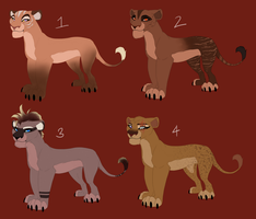 The Marked Ones- Adoptable Females OPEN by Ersalaa
