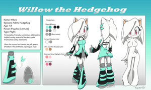 Willow the Hedgehog Reference by laxstar123