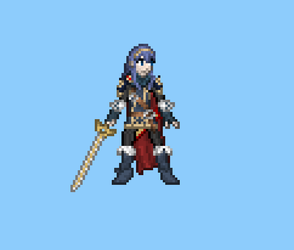 Lucina Sprite Idle by Droe747