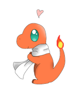 charmander loves his scarf by Mizdreavus