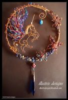 Unicorn Suncatcher by illustrisdesigns