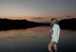 Sunset Pregnancy by rustyshutter