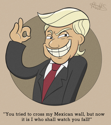 Donald Trump in Wall Out Of Border by LWB-the-FluffyMystic