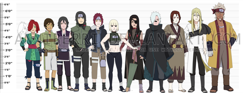 -REMAKE- Naruto OC Height Chart by anniberri