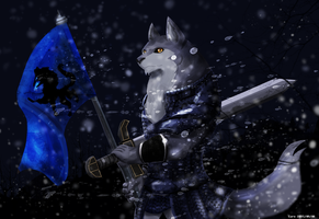The winter wolf by fd-caro