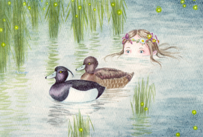 Ducks and mermaids II by Mohnlied