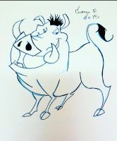 #INKTOBER DAY 24 Pumba by CartoonWatch
