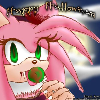 Vampire Amy Happy Halloween by TheSnowDrifter