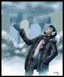 Snowing by MonteCreations