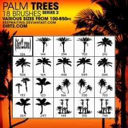 PS7 - PALM TREE BRUSHES SET.2 by KeepWaiting