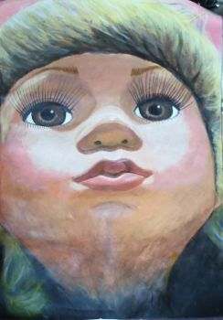 Doll Looking Up Painting by GemmaProuse