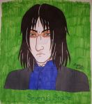 Severus Snape art trade by Yoitefriend
