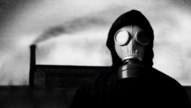 Wallpaper Gas Mask 1080p by Crazzy-Arts