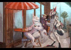 CM : Afternoon Coffee by MutantParasiteX