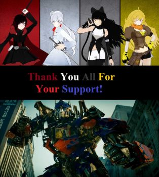 RWBY Blood and Steel Thanks For The Support by Sideswipe217