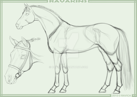 Ravakins - Mare lineart sketch by Ravica