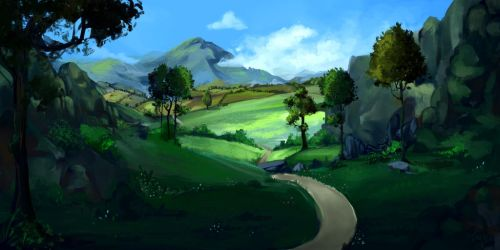 Painting Paysage 29-05-207 by EmyGri