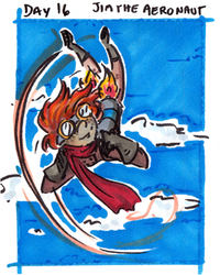 30characters - day 16 - jim the aeronaut by not-fun
